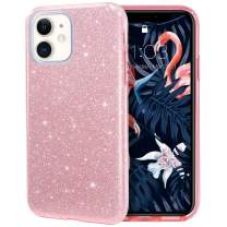 MILPROX iPhone 11 Case, Bling Sparkly Glitter Luxury Shiny Sparker Shell, Protective 3 Layer Hybrid Anti-Slick Slim Soft Cover for iPhone 11 6.1 inch (2019)-Pink