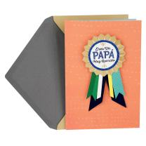 Hallmark VIDA Spanish Father's Day Card with Removable Ribbon Badge (Papá Muy Querido/Beloved Father)