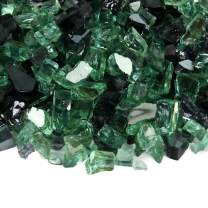 Silver Sage - Fire Glass Blend for Indoor and Outdoor Fire Pits or Fireplaces | 10 Pounds | 1/2 Inch, Reflective