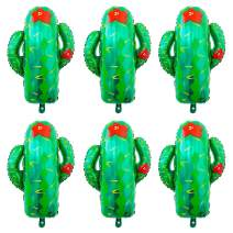Cactus Foil Mylar Balloon Mexican Final Fiesta Theme Party and Taco Bout a Paty Birthday Party Decoration Green 6 Pieces Baby Shower