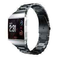 EloBeth Watch Band Compatible with Fitbit Ionic Bands Stainless Steel Replacement for Fitbit Ionic Watch Band Men (Black)