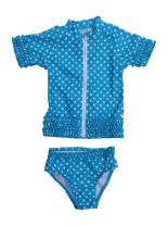 SwimZip Little Girl Sassy Surfer Rash Guard Swimsuit Set