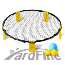 YardFine Spike Battle Ball Game Set Bounce Volleyball Game Kit for Lawn Backyard Beach Lawn Outdoors Game Gift