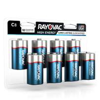 Rayovac C Batteries, Alkaline C Cell Batteries (8 Battery Count)