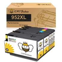 CMYBabee Compatible Ink Cartridge Replacement for HP 952 XL 952XL Work with OfficeJet Pro 7720 7740 8702 8710 8715 8720 8740 8730 8210 8216 Printer (2 Black, 1 Cyan, 1 Magenta, 1 Yellow, 5-Pack)