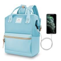 Hethrone Water Repellent Laptop Backpack 15.6 Anti Theft Travel School Computer Bag with USB Port Azure