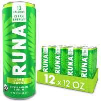 Organic Clean Energy Drink by RUNA, Lime Twist   Refreshing Tea Taste   10 Calories   Powerful Natural Caffeine   Healthy Energy & Focus   No Crash or Jitters   12 Oz (Pack of 12)