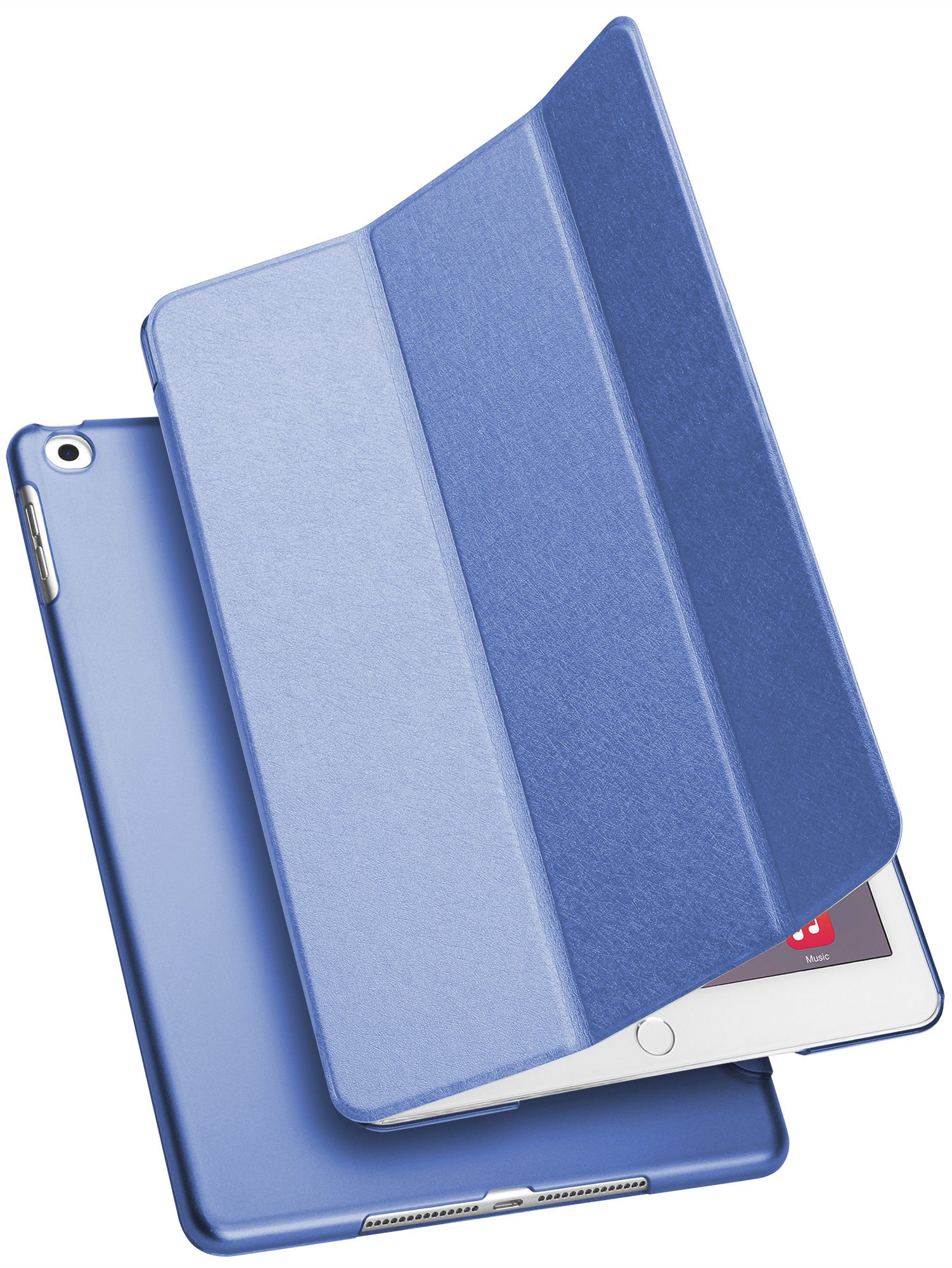 GMYLE iPad Case 9.7 Case, Auto Sleep Wake Smart Cover & Multi-Angle Trifold Stand, PU Leather Slim Lightweight Folio for iPad 9.7 inch 6th Generation 2018 / 5th Generation 2017, Cobalt Blue