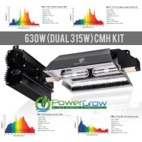 Grower's Choice 630NS (630w CMH/Dual 315W Ceramic Metal Halide Bulbs) - Complete Setup ((1) 3K-R / (1) 3K)