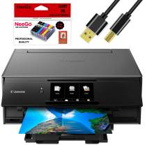 Canon Wireless Pixma TS9120 Inkjet All-in-one Printer with Scanner, Copier, Mobile Printing, Airprint and Google Cloud + Bonus Set of Ink and Printer Cable