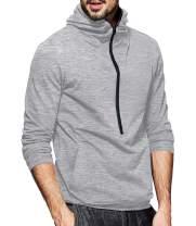 LecGee Men's Hooded Sweatshirt Casual Long Sleeve Pullover Hoodie 1/2 Zip Hoodies with Pockets