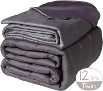 """Active Corner 12 lb Weighted Blanket   48""""x72""""   Twin Size Heavy Blanket with All Seasons Bamboo/Minky Cover   Designed for Teens and Adults Weighing 100-140 lbs   Comfort Series by Cozy Mill"""