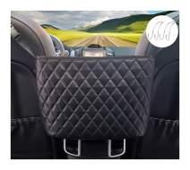 J.Y.Memorize Car Handbag Holder Leather, Between The Seat Purse Holder for Car Front Seat, Car Purse Holder Storage, Car Handbag Holding and 2 Car Hooks Suit