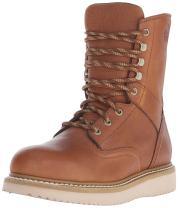 Georgia Boot Men's 8 Inch Wedge Steel Toe Work Shoe, Barracuda Gold, 9.5 M US