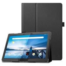 "Fintie Lenovo Smart Tab M10 HD / P10 / M10 Case - Premium PU Leather Folio Cover for Lenovo Tab M10 HD TB-X505F TB-X505L / P10 TB-X705F TB-X705L / M10 TB-X605F 10.1"" Tablet, Black"