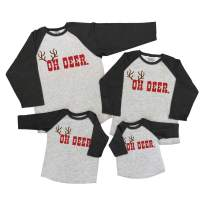 7 ate 9 Apparel Matching Family Christmas Shirts - Oh Deer Grey Shirt