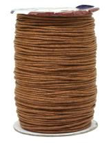 Mandala Crafts 1.5mm 109 Yards Jewelry Making Beading Crafting Macramé Waxed Cotton Cord Rope (Russet Brown)