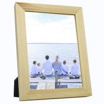 OIYEA 5x7 Picture Frames Wood Materials,HD PVC Transparent Board with Family, Personal, Baby and Landscape Photos Wood