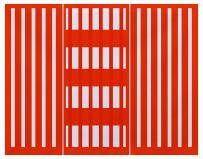 E by design PT4S784O1 Beach Blanket, Stripe Print Placemat, 18x14, Orange