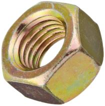 Steel Hex Nut, Zinc Yellow-Chromate Plated, Class 10, DIN 934, Metric, M24-3 Thread Size, 36 mm Width Across Flats, 19 mm Thick (Pack of 5)