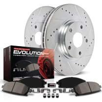 Power Stop K6501 Rear Brake Kit with Drilled/Slotted Brake Rotors and Z23 Evolution Ceramic Brake Pads
