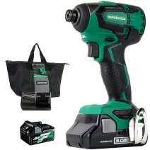 Metabo HPT WH18DBFL2TM 18V Brushless Lithium-Ion 1/4 in. Cordless Impact Driver Kit (3 Ah/5 Ah)