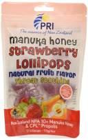 PRI Manuka Honey Strawberry Throat Soothing Lollipops 4 Ounces
