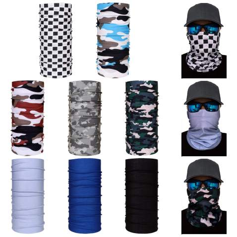 Sun Face Scarf Dust Mask Neck Gaiter Cool Windproof Balaclava Seamless Bandana