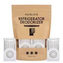 Refrigerator Deodorizer - Fridge and Freezer Odor Eliminator - Outperforms Baking Soda (2-Pack)