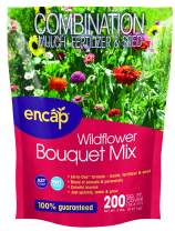 Wildflower Bouquet Mix from Encap - 4-in-1 Mix, Annual and Perennial Seeds - Open-Pollinated, Non-GMO, with Instructions for Planting a Beautiful Garden