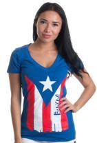 Boricua | Cute PR Puerto Rican Pride, Nuyorican Flag Ladies' Rico V-Neck T-Shirt
