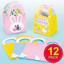 Baker Ross Pastel Coloured Party Gift Boxes for Children to Decorate Embellish and Fill in (Pack of 12)