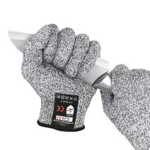 MIG4U Cut Resistant Gloves Food Grade, Safety Kitchen Cutting Gloves for Oyster Shucking, Fish Fillet Processing, Mandolin Slicing, Meat Cutting and Wood Carving(Size M,1 pair)