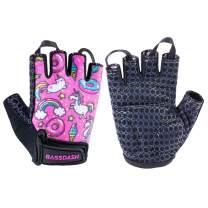 Bassdash UPF 50+ Kids' Gloves with Padded Grippy Palm UV Protection for Bicycles Fishing for 1-8 Years Old Boys Girls