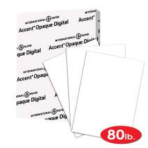 Accent Opaque White Cardstock Paper, 80lb Cover, 216 gsm, 8.5 x 11 card stock, 1 Ream / 250 Sheets, Heavy Cardstock with Super Smooth Finish (121947R)