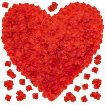 Red Rose Petals for A Romantic Night - 3600 PCS Fake Artificial Silk Valentines Day Flower Face Rose Petals - Great for Special Romantic Nights Room Decorations Marry Me Proposal Weddings Bath