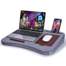 Lap Desk : Laptop Desk for Lap Fit up to 17inches Laptop - Laptop Pillow Lap Desk for Bed Built in Mouse Pad & Storage for Adults Kids