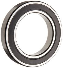 SKF 6008 2RSJEM Deep Groove Ball Bearing, Double Sealed, Steel Cage, C3 Clearance, 40mm Bore , 68mm OD, 15mm Width, 2610lbf Static Load Capacity, 3780lbf Dynamic Load Capacity