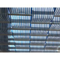Alion Home Roman Shade Panel Cover HDPE Permeable Canopy for Pergola, Patio, Porch (3' x 10', Blue & White)