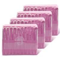 Littleforbig Printed Adult Brief Diapers Adult Baby Diaper Lover ABDL 40 Pieces (4 Packs) - Nursery Pink(M)