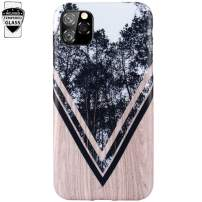 DICHEER iPhone 11 Pro Case with Glass Screen Protector,Cute Wood Forest for Men Women Girls,Clear Bumper Glossy TPU Silicon Rubber Soft Cover Anti Scratch Protective Phone Case for iPhone 11 Pro 2019