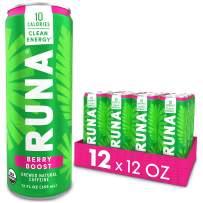 Organic Clean Energy Drink by RUNA, Berry Boost   Refreshing Tea Taste   10 Calories   Powerful Natural Caffeine   Healthy Energy & Focus   No Crash or Jitters   12 Oz (Pack of 12)