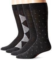 Dockers Men's 4 Pack Argyle Dress Socks