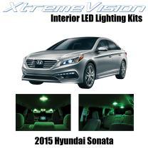 Xtremevision Interior LED for Hyundai Sonata 2015+ (5 Pieces) Green Interior LED Kit + Installation Tool