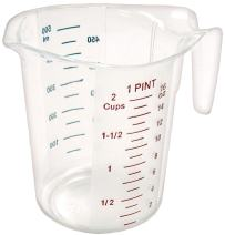 Winco Measuring Cup, Polycarbonate, 1-Pint