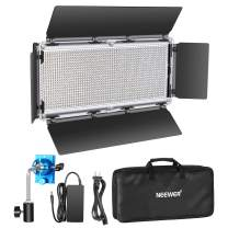 Neewer Dimmable LED Video Light 1320 LEDs 3200-5600K,CRI 2829Lux/m, CRI 96+ Metal Frame with Barndoor, DC Adapter/Battery Power for Studio Portrait Product Video Shooting (Battery Not Include)