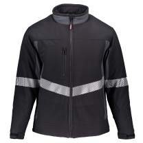 RefrigiWear Men's Water-Resistant Enhanced Visibility Insulated Softshell Jacket with Silver Reflective Tape