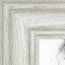 ArtToFrames 17x32 inch Off White Wash on Ash Wood Picture Frame, 2WOM0151-59504-475-17x32