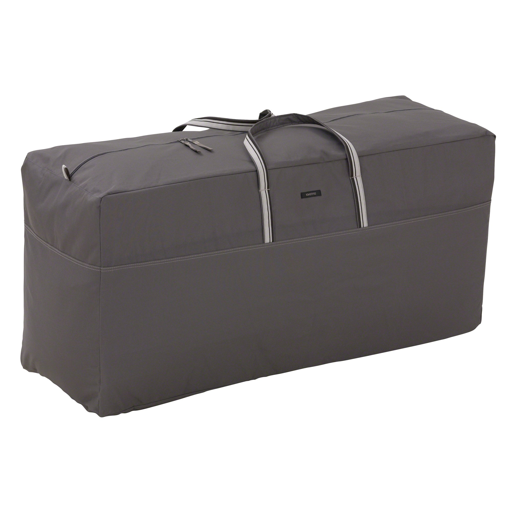 Classic Accessories Ravenna Water-Resistant 45.5 Inch Patio Cushion and Cover Storage Bag,