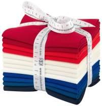 Robert Kaufman Kaufman Kona Cotton Fat Quarter Bundles 12 Pcs Patriotic